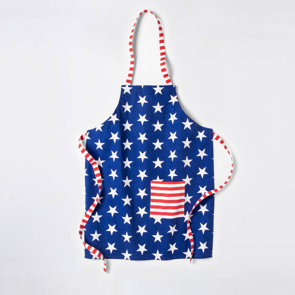 Americana Star Print Grill Cooking Apron - Red/White/Blue - Sun Squad™