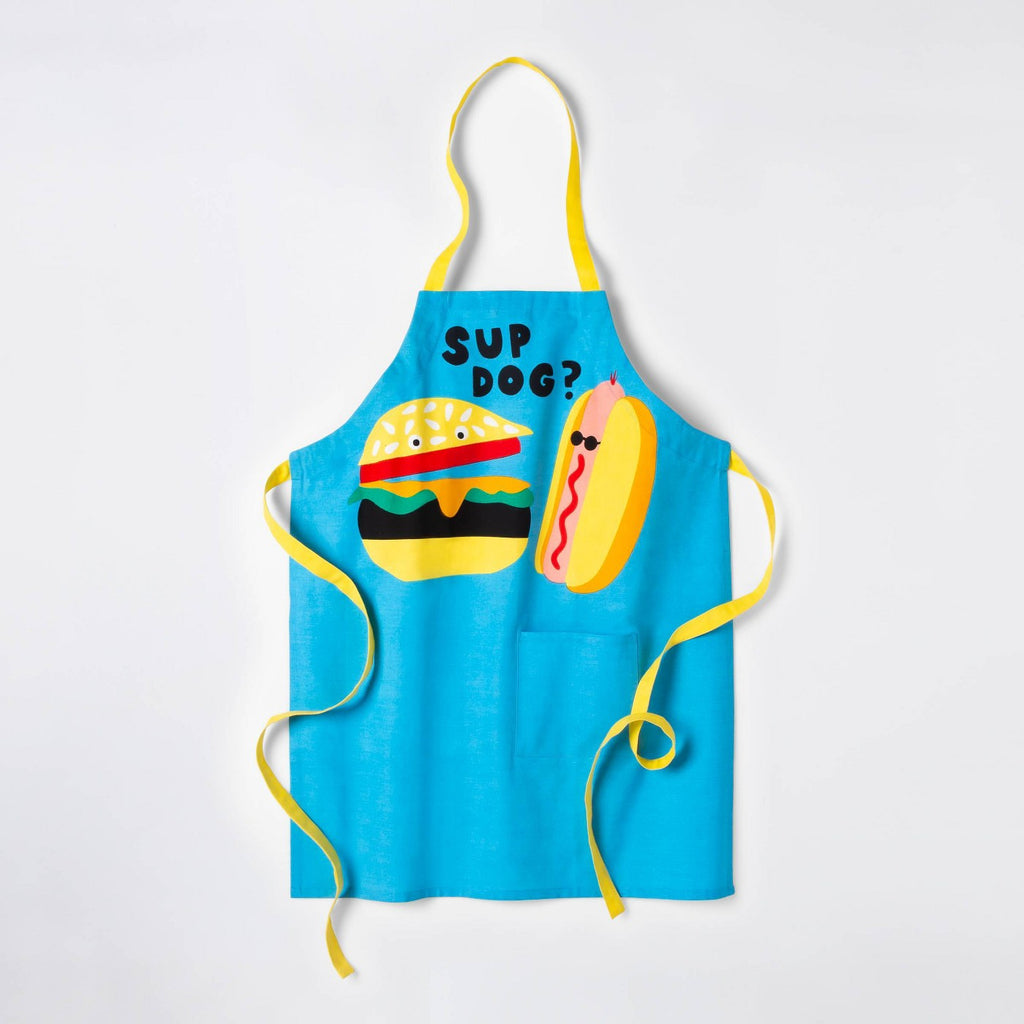 Sup Dog? Grill Cooking Apron - Blue - Sun Squad