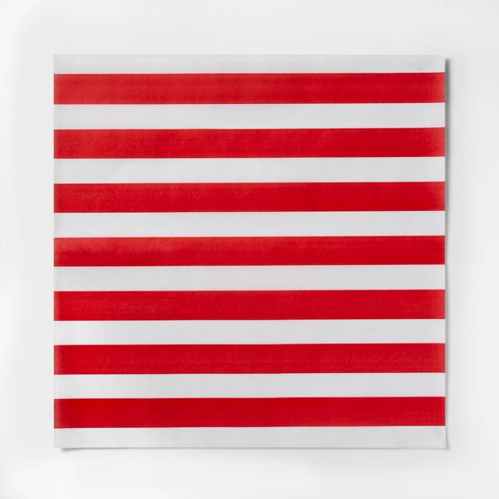 12pk Americana Striped Food Basket Liner Red/White - Sun Squad™