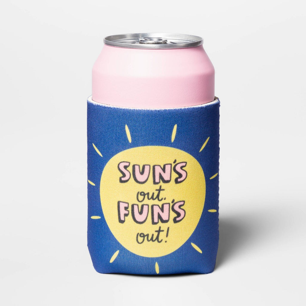 Sun's Out, Fun's Out! Can Cooler - Blue - Sun Squa