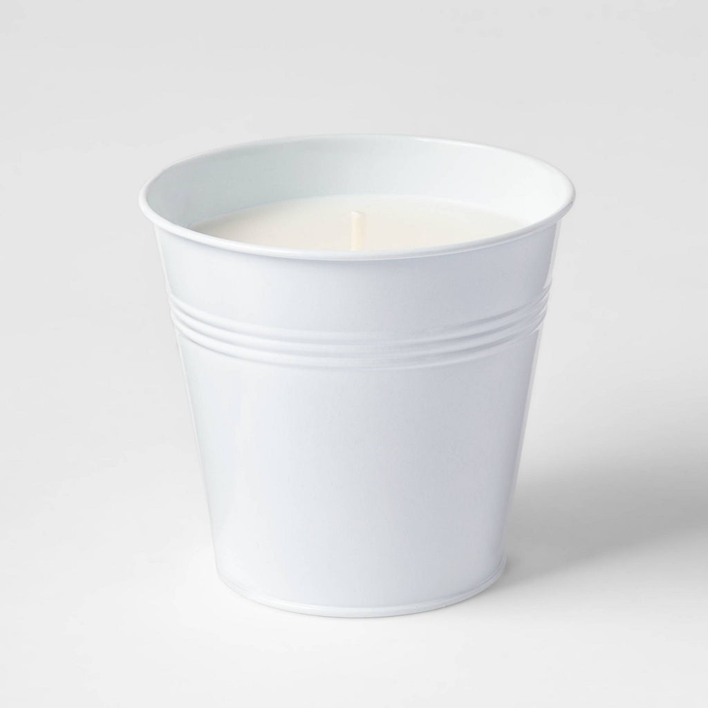 Citronella Wax Bucket Candle White - Sun Squad™