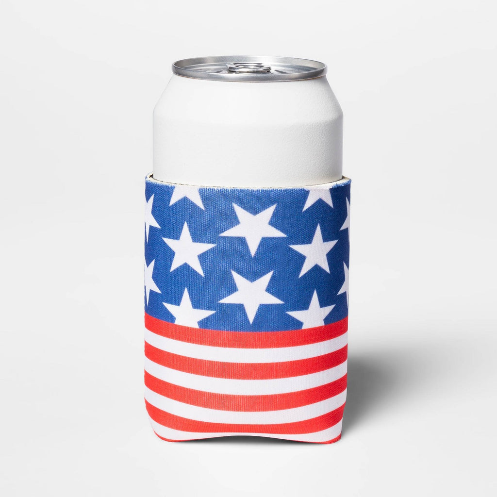Americana Can Cooler - Red/White/Blue - Sun Squad™