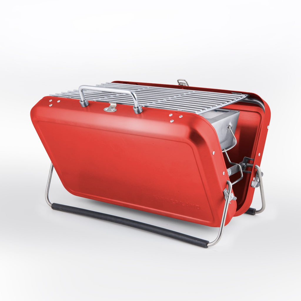 Portable Briefcase Grill - Red - Kikkerland