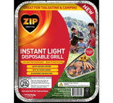 Zip Instant Light Disposable Grill Black 92284