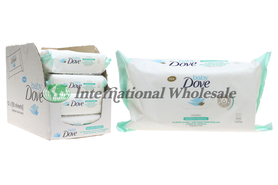 Dove Baby Wipes Sensitive 12/50 Pk