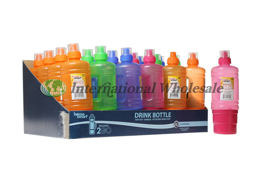 Water Bottle W Cup 16.9 Oz (500 mL)