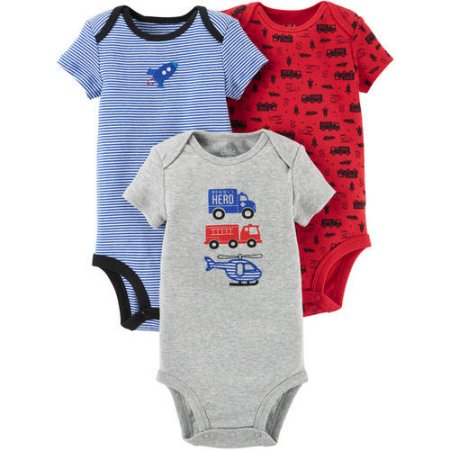 Child of Mine by Carter's Newborn Baby Boy 3 Pack Bodysuit