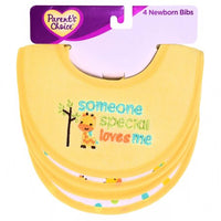 Parent's Choice Newborn Bibs, Someone Special, Yellow, 4 Count