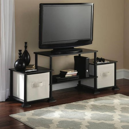 "MS No-Tool Assembly 3-Cube Entertainment Center for TVs up to 40"", Black"