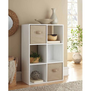 "6-Cube Organizer Shelf White 11"" - Room Essentials"