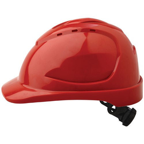 Safety Helmet with ratchet (Red)