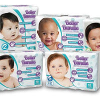 Better Bundle baby diapers Size 4 6/20ct (MM0716)