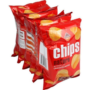 Chips Nature - Leader Price - 180g 6x30g 6 Counts DLC: 15/DEC/20