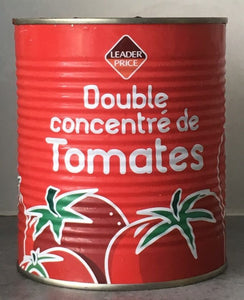 Double concentré de Tomates - Leader Price 880g Exp.:27/AVR/21