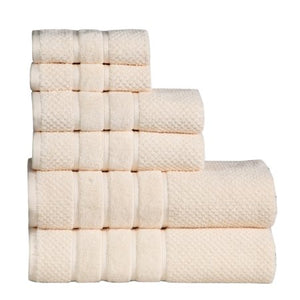 Luxury 100% Cotton 6-Piece Towel Set, 650 GSM Hotel Collection, Super Soft and H