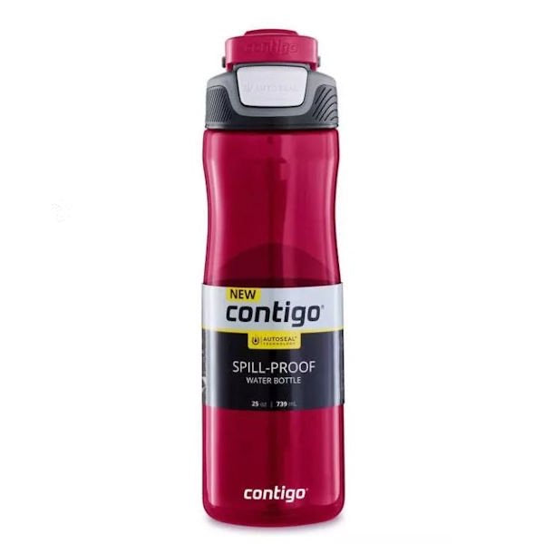 Contigo 25oz Autoseal Fit Water Bottle Red 739mL
