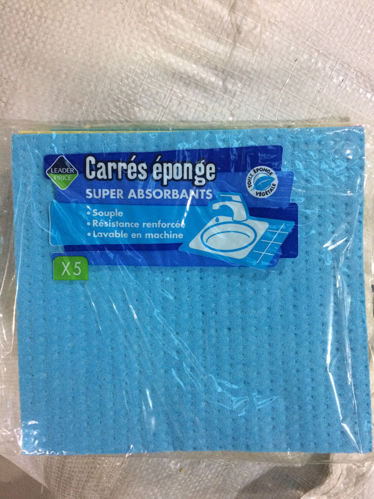 Leader Price Carrés Eponge Super Absorbants 5 ct