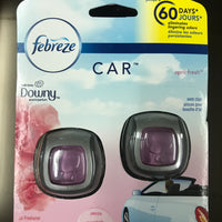 Febreze Car Vent Clip Meadows & Rain Air Freshener, 2 ct