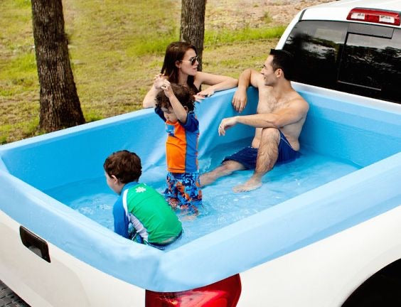 Summer Waves Inflatable Truck Bed Pool, Measures 66