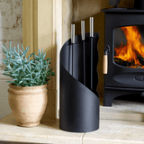 Universal 5-Piece Fireplace Tool Set in Black