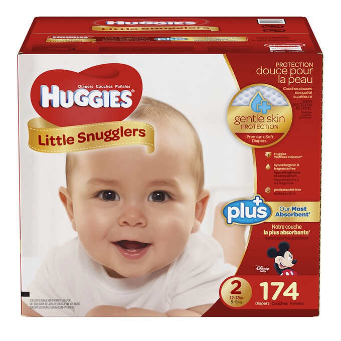 Huggies Little Snugglers Plus Diapers Size 2, 58-count