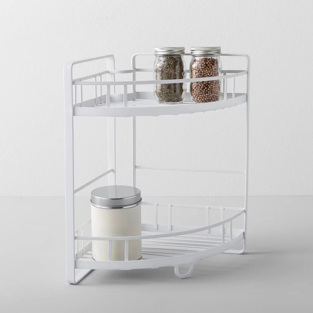 "Kitchen Cabinet Organizer Corner Shelf 2 Tier White - Made By Designâ""¢"