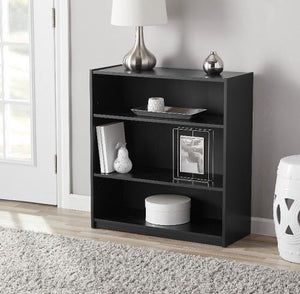 Mainstays 31 3-Shelf Standard Bookcase Multiple Finishes