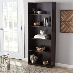 Mainstays 71 5-Shelf Bookcase Espresso