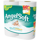 Angel Soft Toilet Paper, 4 Regular Rolls, Bath Tissue