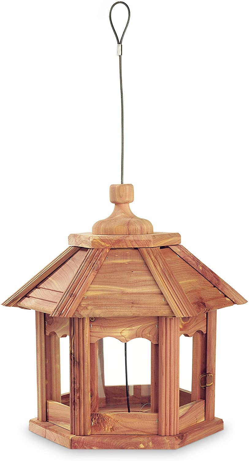 Pennington Ultra Cedar Gazebo Wild Bird Feeder, Holds 3 lbs of seed capacity