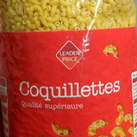 Coquillettes - Leader Price - 1 kg DLC: AVRIL/2023