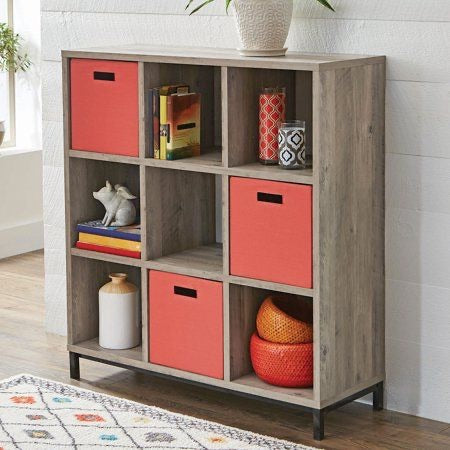 Better Homes and Gardens 9 Cube Storage Organizer with Metal Base Multiple Finishes
