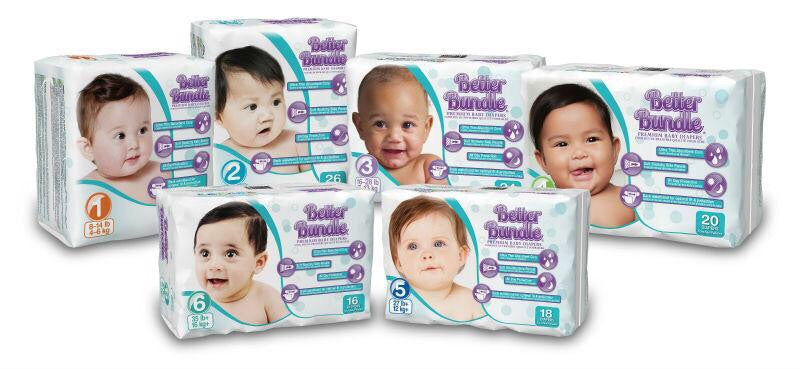 Better Bundle baby diapers Size 6 6/16ct