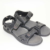 Khombu Men's Black River Eva Sandal Shoes, Size 9/42