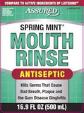 Assured Spring Mint Antiseptic Mouth Rinse,500mL DLC:05/22