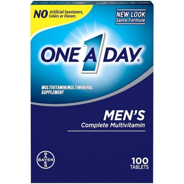 One A Day For Men Multivitamin Dietary Supplement Tablets DLC: AVR/2022