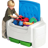Little Tikes Sort 'N Store Kids Toy Storage Chest, White and Blue