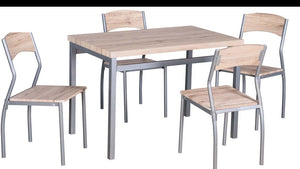 Brown Dining Table 5-Pieces