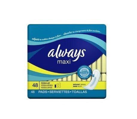 Always Ultra Thin Regular Pads with Wings (48ct)