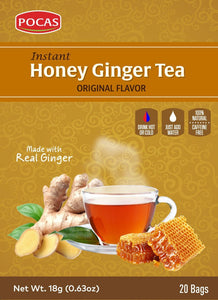 Pocas Honey Ginger Tea 18g - 24ct
