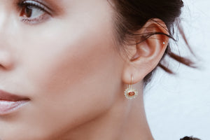 Sapphires Ellipse Earrings