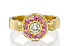 Load image into Gallery viewer, Diamond pink sapphire Engagement Ring