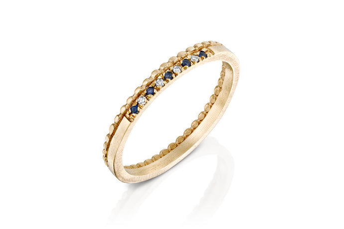 Sapphire Diamond Engagement Ring for Women