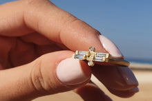 Load image into Gallery viewer, Alternative Baguette Diamond Engagement Ring