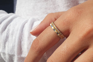 Alternative Diamond Baguette Engagemnt  Wedding Ring