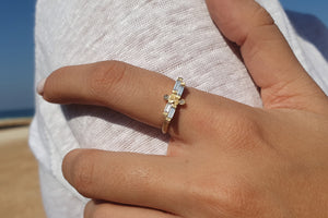 Alternative Baguette Diamond Engagement Ring
