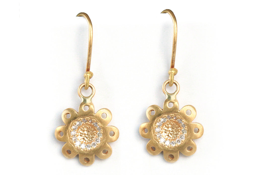 Diamonds Floral Earrings