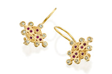 Load image into Gallery viewer, Ruby Sapphires  Dangle Earrings