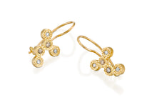Load image into Gallery viewer, Diamonds Bridal Earrings 18k Solid Gold