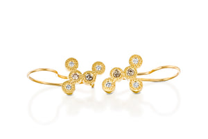 Diamonds Bridal Earrings 18k Solid Gold